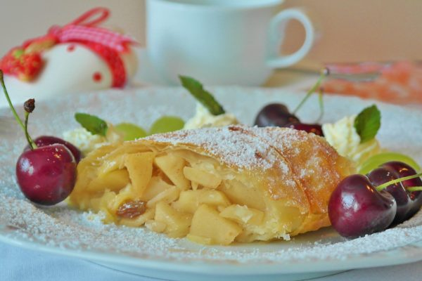 Canva - Yellow Pastry and Red Cherry in White Ceramic Dining Plate