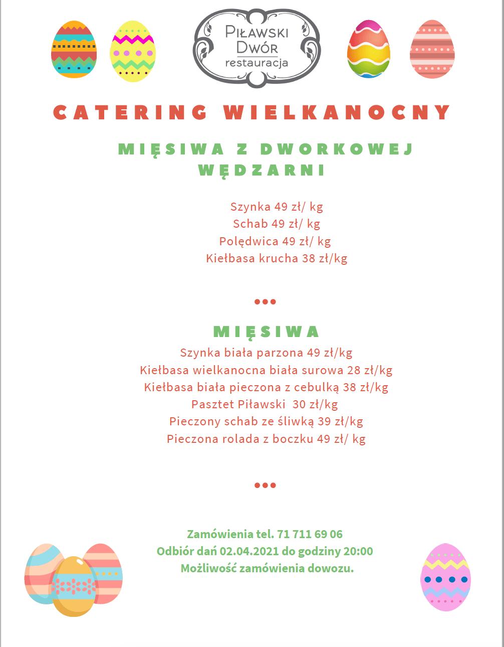 catering na wielkanoc 2021 Katy Wrocławskie